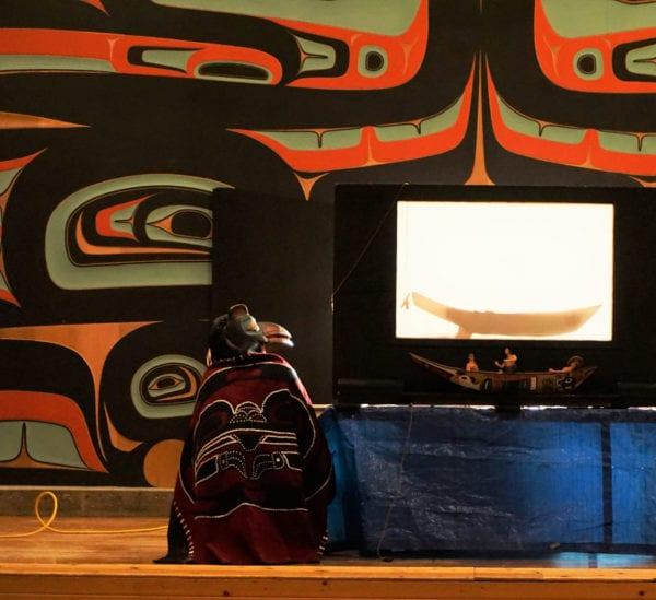 A Tlingit performer